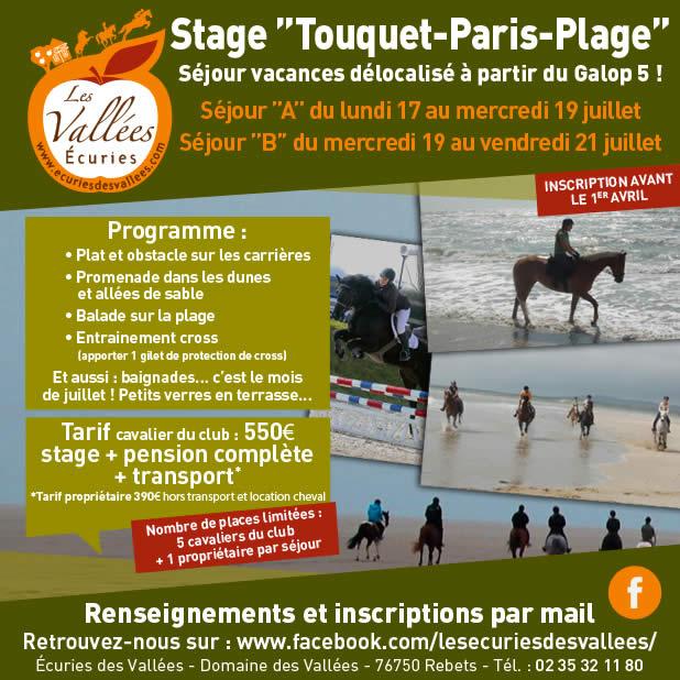 stage équitation Le Touquet juillet 2017